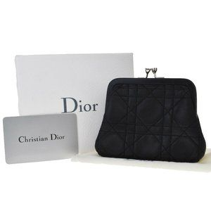 Christian Dior Cannage Wallet Coin Purse Leather